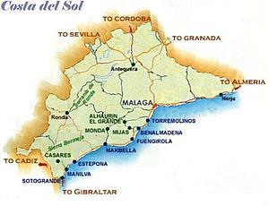 Карта. Коста дель Соль