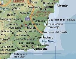 Карта. Аликанте. Испания