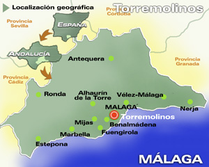 Карта. Малага. ИСПАНИЯ