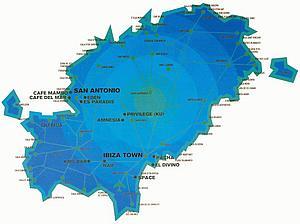 Карта Ибицы. Испания
