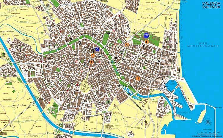 Валенсия | Карты Валенсии Валенсия Испания Карта