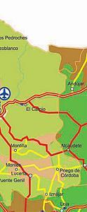 Карта автодорог Кордовы. Испания
