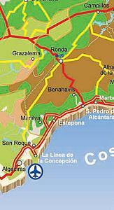 Карта автодорог Кадиса