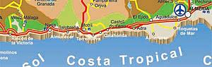 Карта автодорог Гранады. Испания