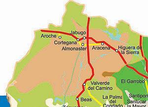 Карта автодорог Уэлвы. Испания