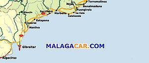 Карта автодорог Малаги