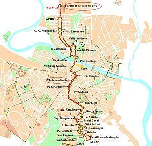 Карта Сарагосы. Испания