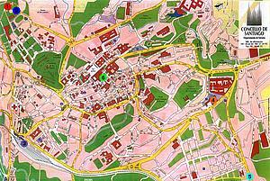 Карта Сантьяго-де-Кампостело