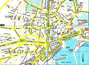 Карта Овьедо. Испания