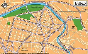 Карта Бильбао. Испания