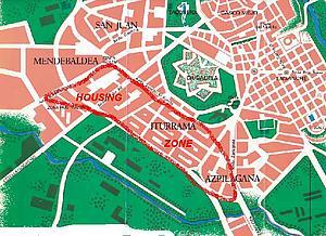 Карта Памплоны. Испания