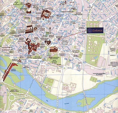 саламанка карта замок бехарских потому