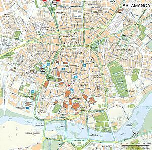 Карта Саламанки